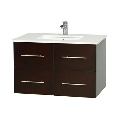 Centra 36 Single Bathroom Vanity Set Base Finish: Espresso