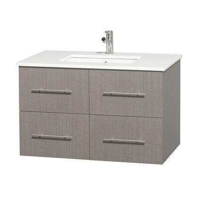 Centra 36 Single Bathroom Vanity Set Base Finish: Gray Oak