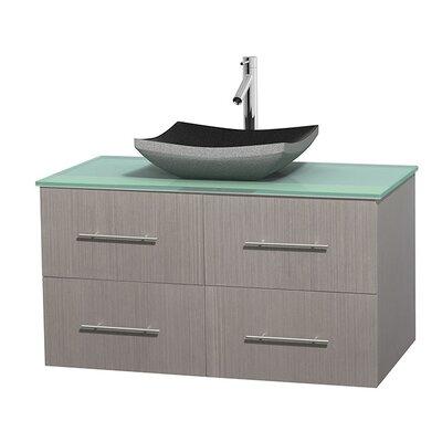 Centra 42 Single Bathroom Vanity Set Base Finish: Gray Oak