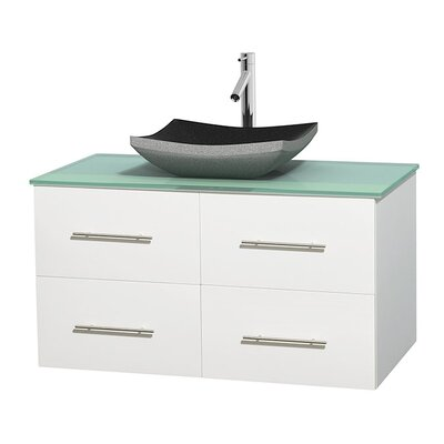 Centra 42 Single Bathroom Vanity Set Base Finish: Matte White