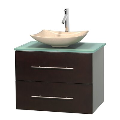 Centra 30 Single Bathroom Vanity Set Base Finish: Espresso, Basin Finish: Arista Ivory