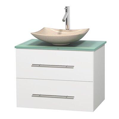 Centra 30 Single Bathroom Vanity Set Base Finish: Matte White, Basin Finish: Arista Ivory