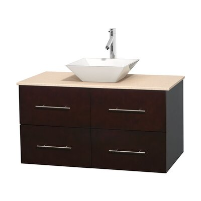 Centra 42 Single Bathroom Vanity Set Base Finish: Espresso, Top Finish: Ivory, Basin Finish: White Porcelain