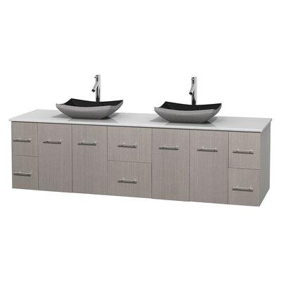 Centra 80 Double Bathroom Vanity Set Base Finish: Gray Oak