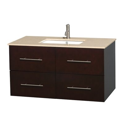 Centra 42 Single Bathroom Vanity Set Base Finish: Espresso, Top Finish: Ivory