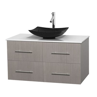 Centra 42 Single Bathroom Vanity Set Base Finish: Gray Oak