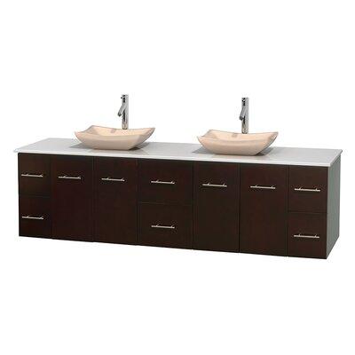 Centra 80 Double Bathroom Vanity Set Base Finish: Espresso, Basin Finish: Avalon Ivory