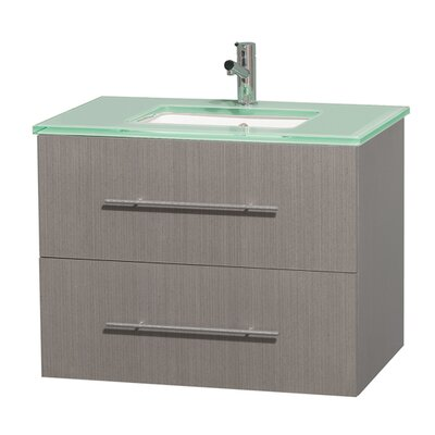 Centra 30 Single Bathroom Vanity Base Finish: Gray Oak