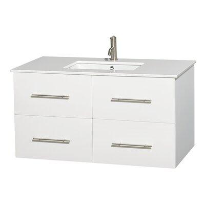 Centra 42 Single Bathroom Vanity Set Base Finish: Matte White