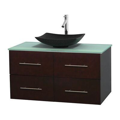 Centra 42 Single Bathroom Vanity Set Base Finish: Espresso