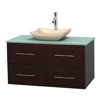 Centra 42 Single Bathroom Vanity Set Base Finish: Espresso, Basin Finish: Avalon Ivory