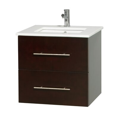 Centra 24 Single Bathroom Vanity Base Finish: Espresso
