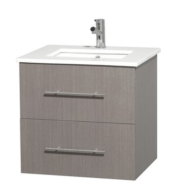 Centra 24 Single Bathroom Vanity Base Finish: Gray Oak