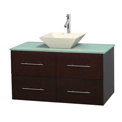 Centra 42 Single Bathroom Vanity Set Base Finish: Espresso, Basin Finish: Pyra Bone