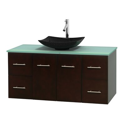 Centra 48 Single Bathroom Vanity Set Base Finish: Espresso
