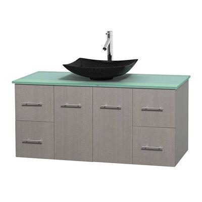 Centra 48 Single Bathroom Vanity Set Base Finish: Gray Oak