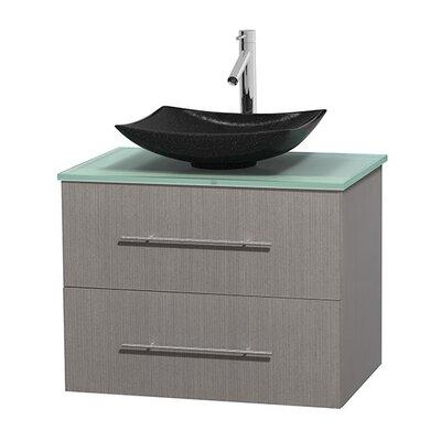 Centra 30 Single Bathroom Vanity Set Base Finish: Gray Oak