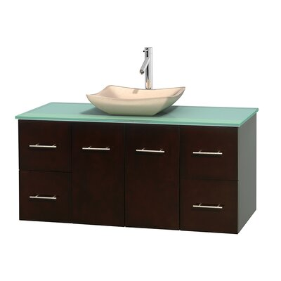 Centra 48 Single Bathroom Vanity Set Basin Finish: Avalon Ivory, Base Finish: Espresso