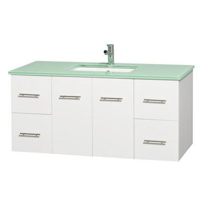 Centra 48 Single Bathroom Vanity Set Base Finish: Matte White