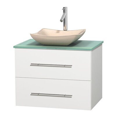 Centra 30 Single Bathroom Vanity Base Finish: Matte White, Basin Finish: Avalon Ivory