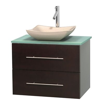Centra 30 Single Bathroom Vanity Base Finish: Espresso, Basin Finish: Avalon Ivory