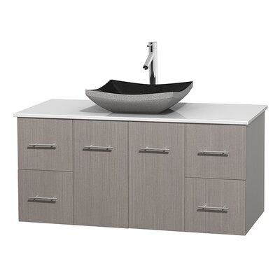 Centra 48 Single Bathroom Vanity Set Base Finish: Gray Oak