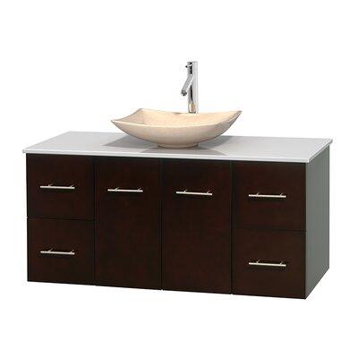 Centra 48 Single Bathroom Vanity Set Base Finish: Espresso, Basin Finish: Arista Ivory