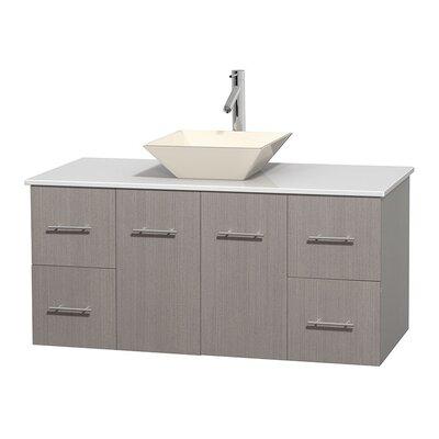 Centra 48 Single Bathroom Vanity Set Base Finish: Gray Oak, Basin Finish: Pyra Bone