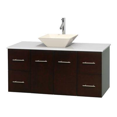 Centra 48 Single Bathroom Vanity Set Base Finish: Espresso, Basin Finish: Pyra Bone