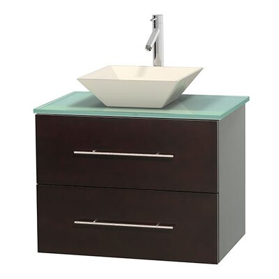 Centra 30 Single Bathroom Vanity Base Finish: Espresso, Basin Finish: Pyra Bone