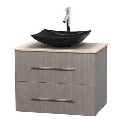 Centra 30 Single Bathroom Vanity Set Base Finish: Gray Oak, Top Finish: Ivory