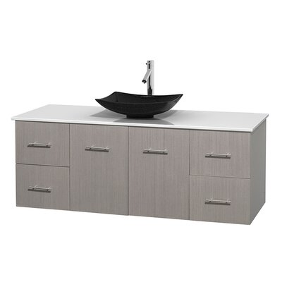 Centra 60 Single Bathroom Vanity Set Base Finish: Gray Oak