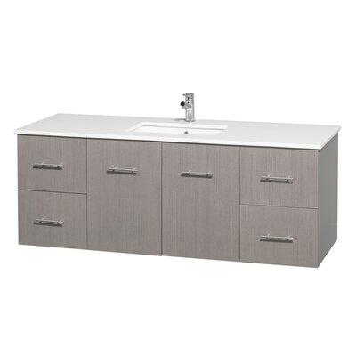 Centra 60 Single Bathroom Vanity Set Base Finish: Gray Oak