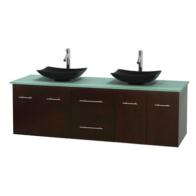 Centra 72 Double Bathroom Vanity Set Base Finish: Espresso