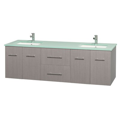 Centra 72 Double Bathroom Vanity Base Finish: Gray Oak