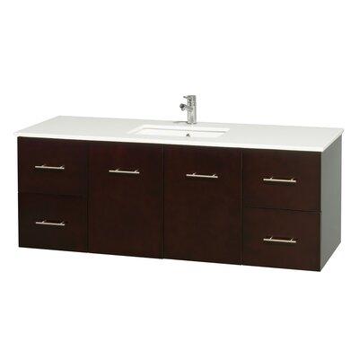 Centra 60 Single Bathroom Vanity Set Base Finish: Espresso