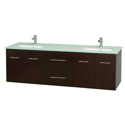 Centra 72 Double Bathroom Vanity Base Finish: Espresso