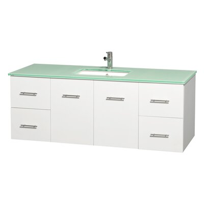 Centra 60 Single Bathroom Vanity Set Base Finish: Matte White