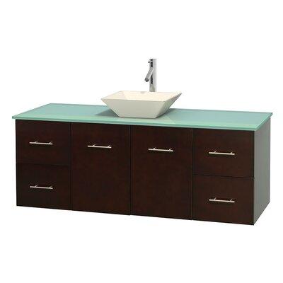Centra 60 Single Bathroom Vanity Set Base Finish: Espresso, Basin Finish: Pyra Bone