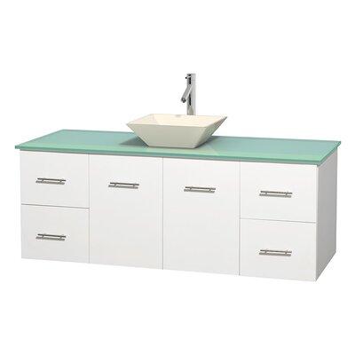 Centra 60 Single Bathroom Vanity Set Base Finish: Matte White, Basin Finish: Pyra Bone