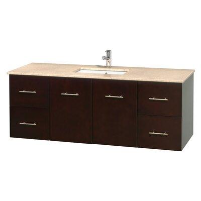 Centra 60 Single Bathroom Vanity Set Base Finish: Espresso, Top Finish: Ivory