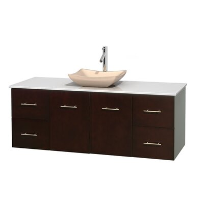Centra 60 Single Bathroom Vanity Set Base Finish: Espresso, Basin Finish: Avalon Ivory