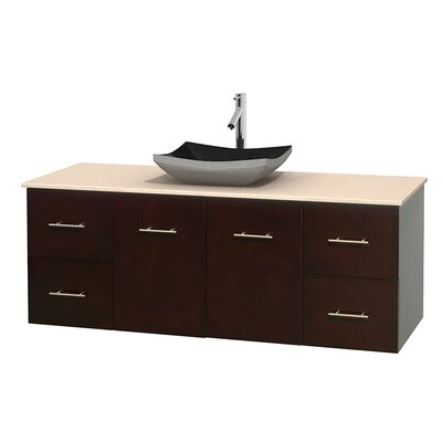 Centra 60 Single Bathroom Vanity Set Base Finish: Espresso, Top Finish: Ivory
