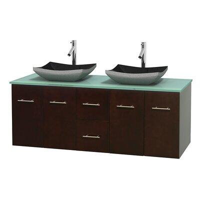 Centra 60 Double Bathroom Vanity Set Base Finish: Espresso