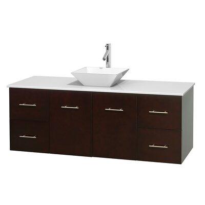 Centra 60 Single Bathroom Vanity Set Basin Finish: Pyra White, Base Finish: Espresso