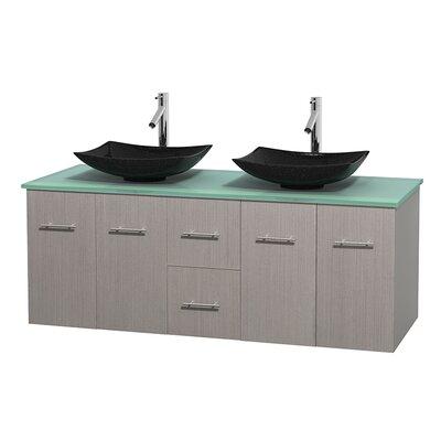 Centra 60 Double Bathroom Vanity Set Base Finish: Gray Oak