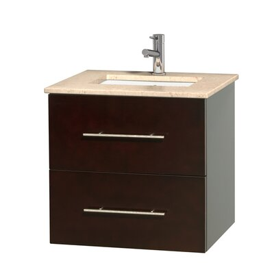 Centra 24 Single Bathroom Vanity Set Base Finish: Espresso, Top Finish: Ivory