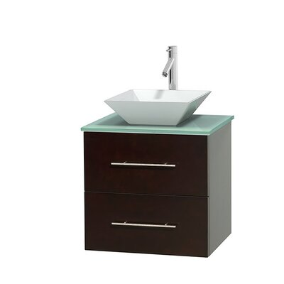 Centra 24 Single Bathroom Vanity Set Base Finish: Matte White, Basin Finish: Pyra Bone