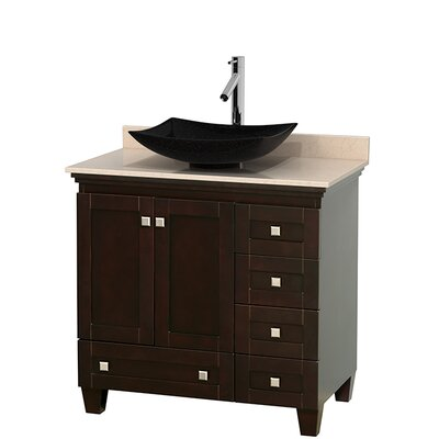 Acclaim 36 Single Bathroom Vanity Set Base Finish: White, Top Finish: Ivory