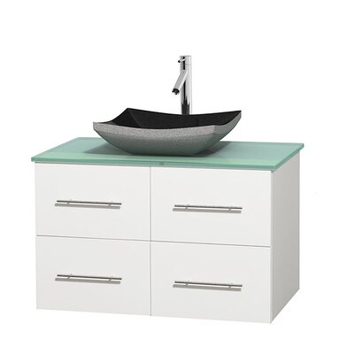 Centra 36 Single Bathroom Vanity Set Base Finish: Matte White